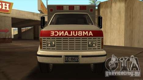 Ambulance HD from GTA 3 для GTA San Andreas вид сзади слева