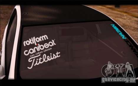 Volkswagen Golf MK5 Lowstance для GTA San Andreas вид сзади слева
