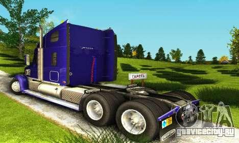 Freightliner Coronado для GTA San Andreas вид справа