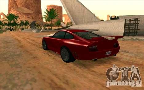 Comet GTA V для GTA San Andreas вид слева