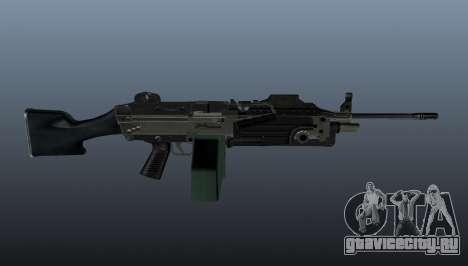 Ручной пулемёт M249 обновлённый для GTA 4 третий скриншот