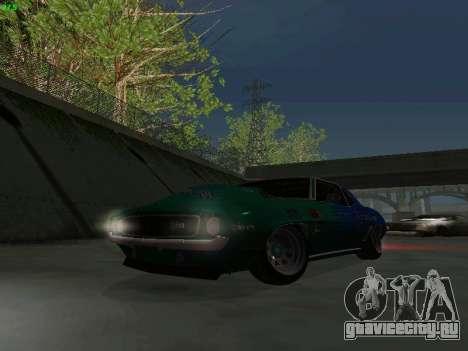 Chevrolet Camaro z28 Falken edition для GTA San Andreas вид сбоку