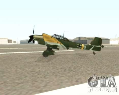Junkers Ju-87 Stuka для GTA San Andreas вид слева