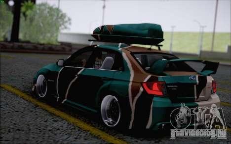 Subaru Impreza Arma для GTA San Andreas вид сзади слева
