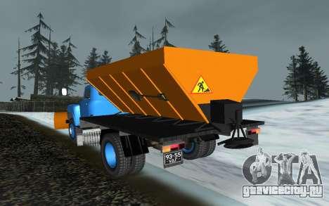 ГАЗ 53 Снегоуборщик для GTA San Andreas вид сзади слева