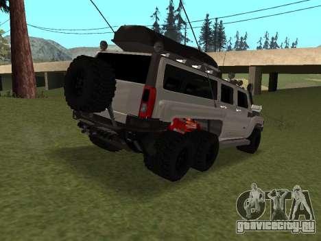 Hummer H3 6x6 для GTA San Andreas вид справа