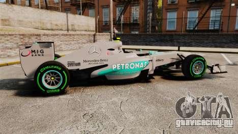 Mercedes AMG F1 W04 v4 для GTA 4 вид слева