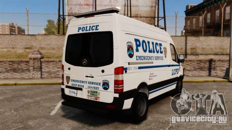 Mercedes-Benz Sprinter 3500 Emergency Response для GTA 4 вид сзади слева