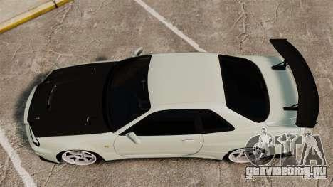 Nissan Skyline GT-R V-Spec II Mk.X [R34] для GTA 4 вид справа