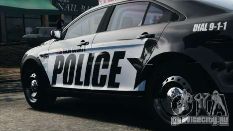 Ford Taurus Police Interceptor 2010 для GTA 4 вид изнутри
