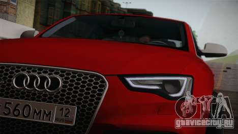 Audi RS5 2012 для GTA San Andreas вид справа