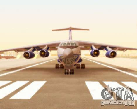 Ил-76ТД Silk Way для GTA San Andreas вид слева
