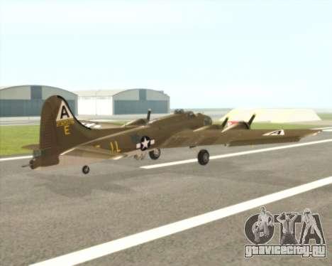 B-17G для GTA San Andreas вид справа