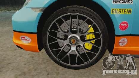 Porsche 911 Turbo 2014 [EPM] Gulf для GTA 4 вид изнутри