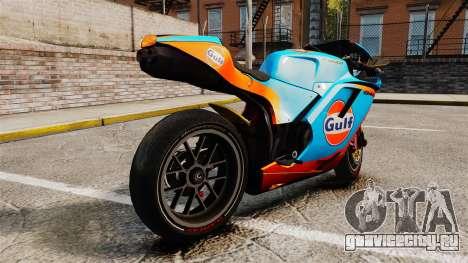 Ducati 848 Gulf для GTA 4 вид слева