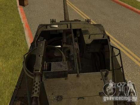 M18-Hellcat для GTA San Andreas вид сзади