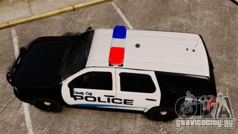 Chevrolet Tahoe Police [ELS] для GTA 4 вид справа