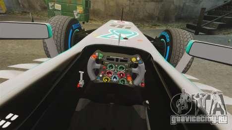 Mercedes AMG F1 W04 v3 для GTA 4 вид изнутри