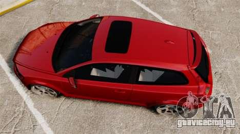 Volvo C30 T5 2009 для GTA 4 вид справа