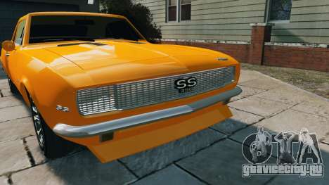 Chevrolet Camaro SS 1967 для GTA 4 вид справа