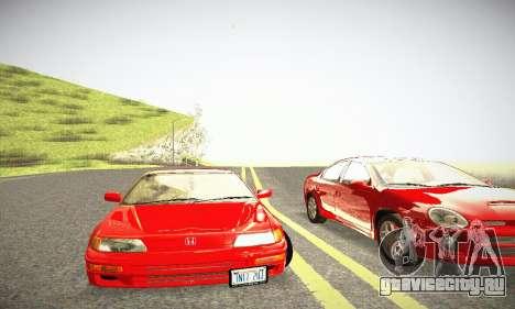 Honda CRX - Stock для GTA San Andreas вид изнутри