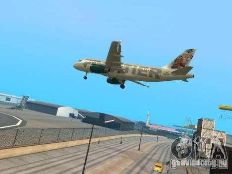 Airbus A319-111 Frontier Airlines Red Foxy для GTA San Andreas вид сзади