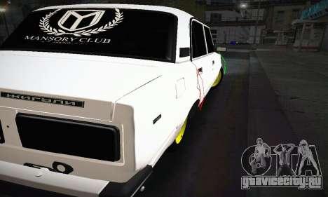 ВАЗ 2107 BUNKER для GTA San Andreas вид справа