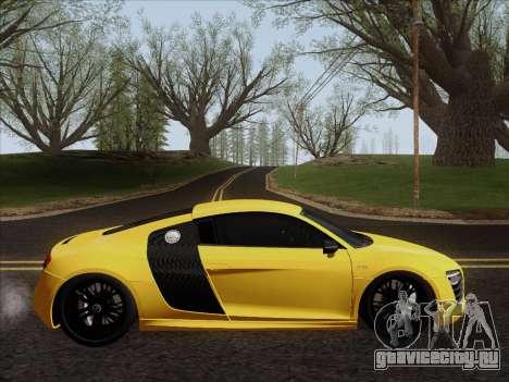 Audi R8 V10 Plus для GTA San Andreas вид сзади слева