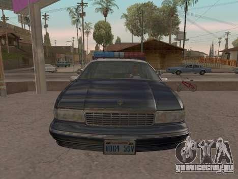 Chevrolet Caprice SFPD 1991 для GTA San Andreas вид сверху