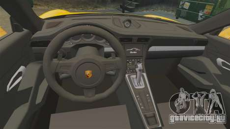 Porsche 911 Turbo 2014 [EPM] Turbo Side Stripes для GTA 4 вид изнутри