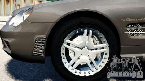 Mercedes-Benz SL65 2007 для GTA 4 вид сзади слева