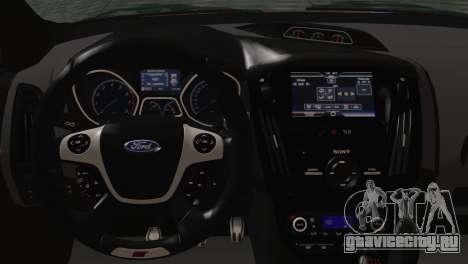 Ford Focus ST 2013 для GTA San Andreas вид сзади