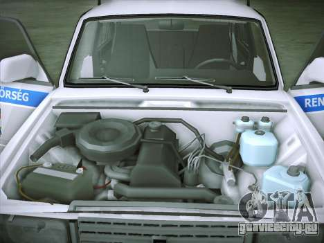 Lada 2107 Rendőrség для GTA San Andreas вид изнутри