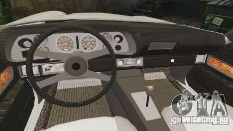 Chevrolet Camaro Z28 1970 v1.1 для GTA 4 вид изнутри