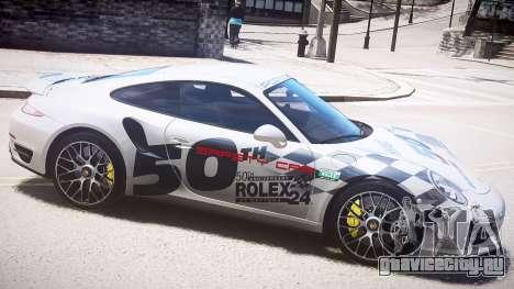 Porsche 911 Turbo 2014 для GTA 4 вид слева