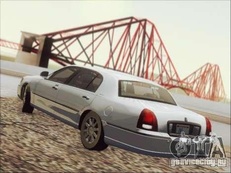 Lincoln Town Car 2010 для GTA San Andreas вид снизу
