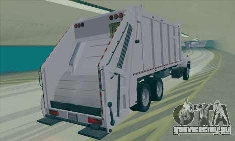 GMC C550 Topkick Trashmaster для GTA San Andreas вид сзади слева