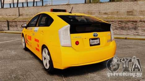Toyota Prius 2011 Adelaide Taxi для GTA 4 вид сзади слева