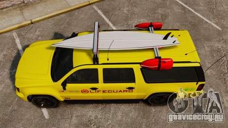 GTA V Declasse Granger 3500LX Lifeguard для GTA 4 вид справа