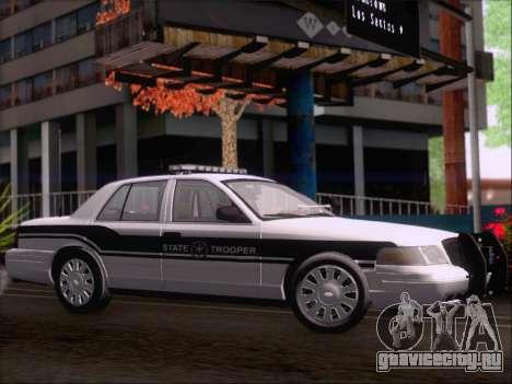 Ford Crown Victoria San Andreas State Trooper для GTA San Andreas вид сзади