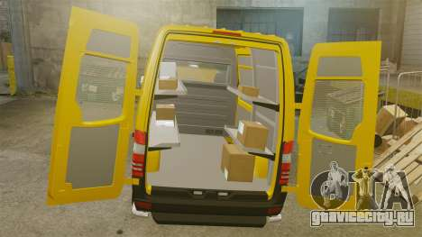 Mercedes-Benz Sprinter 2500 Delivery Van 2011 для GTA 4 вид изнутри