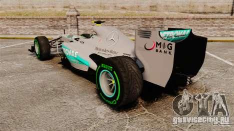 Mercedes AMG F1 W04 v4 для GTA 4 вид сзади слева