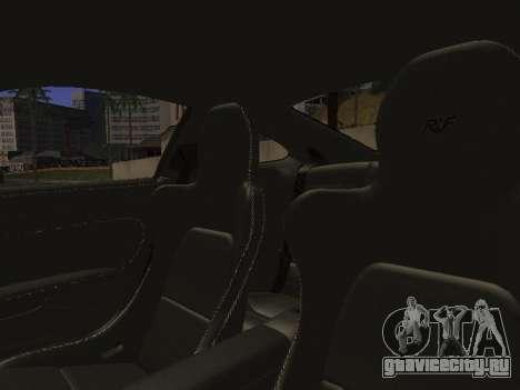 RUF RGT-8 для GTA San Andreas салон