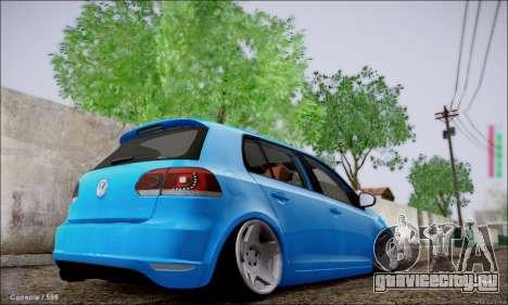 Volkswagen mk6 Stance Work для GTA San Andreas вид сзади слева