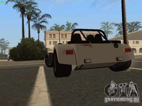 Caterham 7 Superlight R500 для GTA San Andreas вид сзади слева