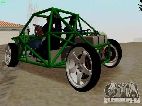 Nocturnal Motorsports Coyote для GTA San Andreas вид сзади слева