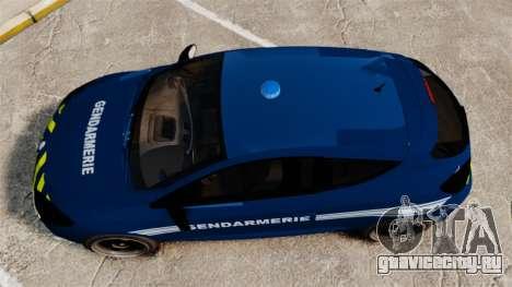 Renault Megane RS Gendarmerie Nationale [ELS] для GTA 4 вид справа