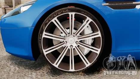 Aston Martin Rapide 2010 для GTA 4 вид сзади