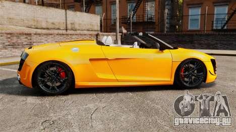 Audi R8 GT Spyder для GTA 4 вид слева