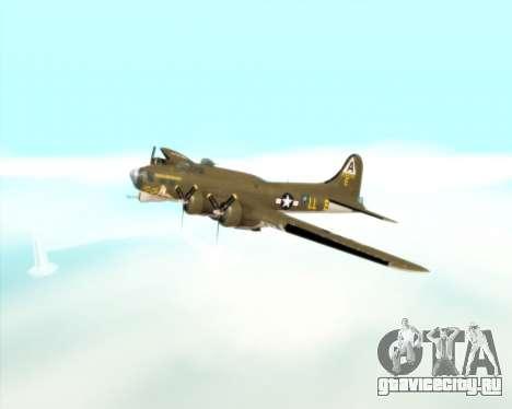 B-17G для GTA San Andreas вид сбоку